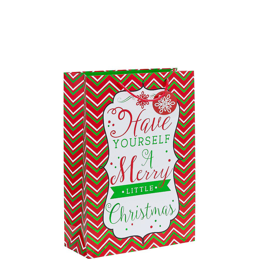 Metallic Modern Christmas Gift Bag Image #1