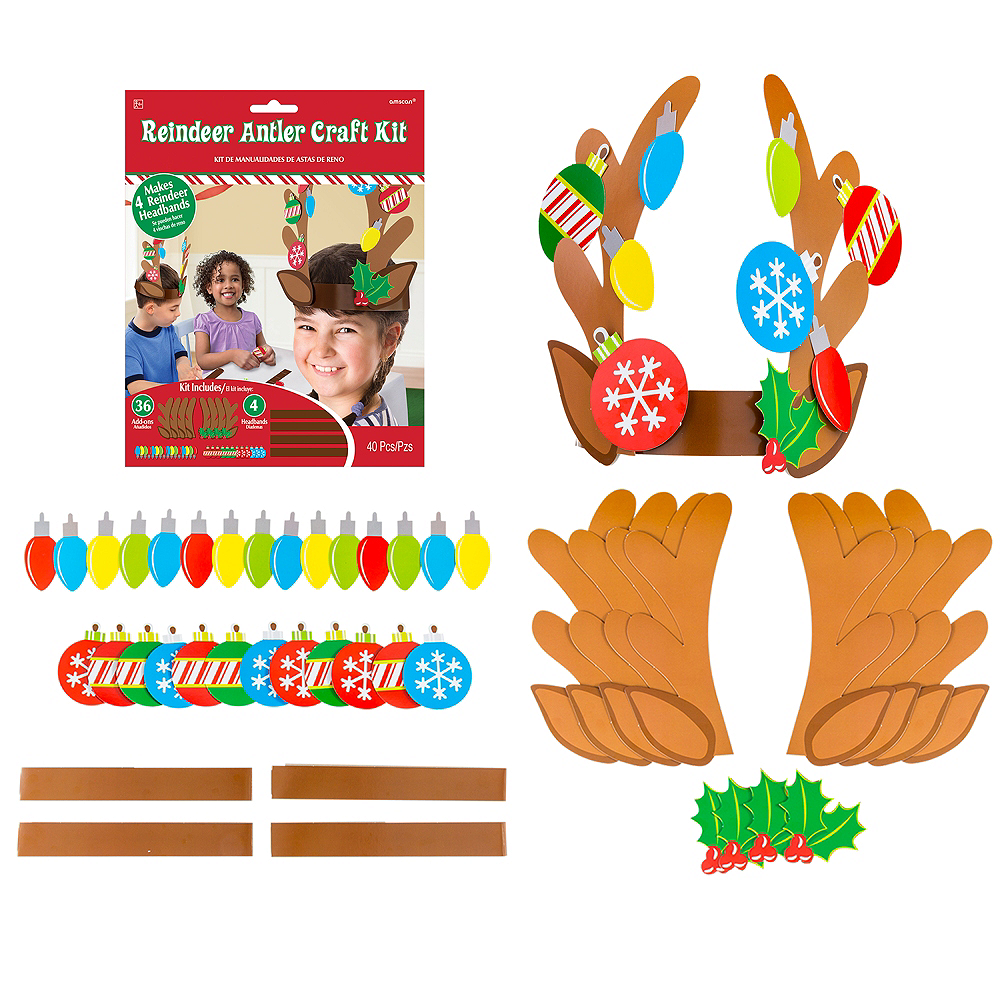 Reindeer Antler Craft Kit for 4 Image #1