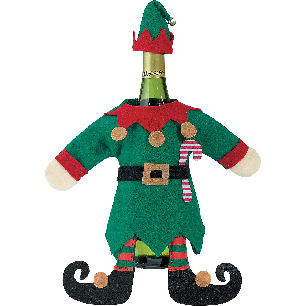 Elf Suit Wine Bottle Cover 2pc Image #1