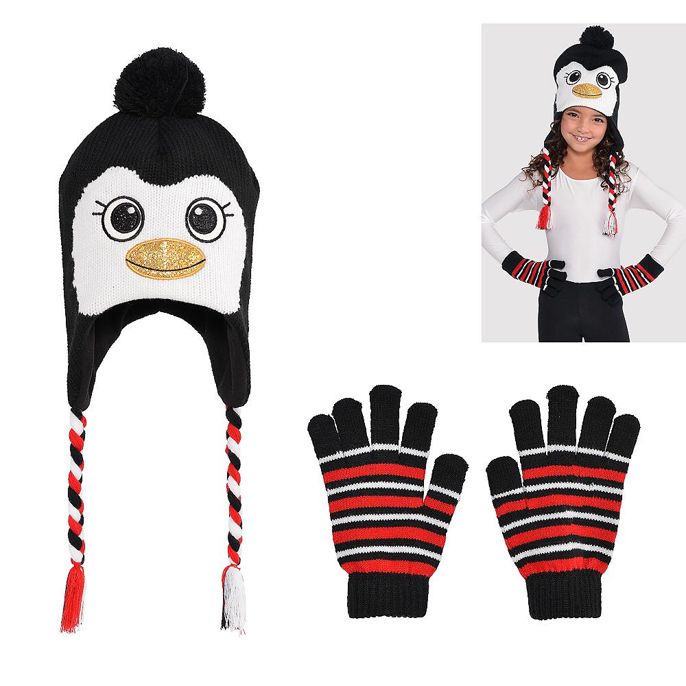 Child Penguin Peruvian Hat & Gloves Image #1