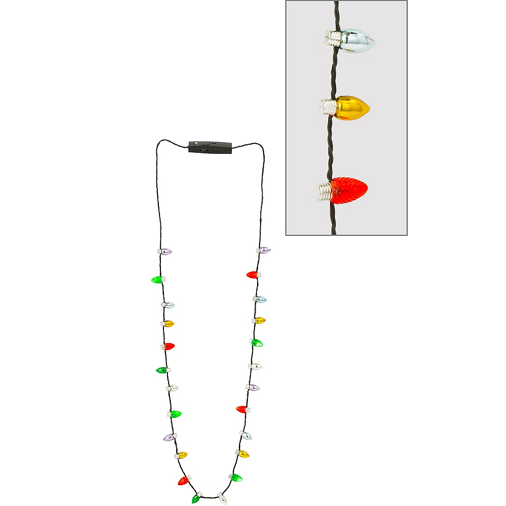 light up christmas lights necklace image 1