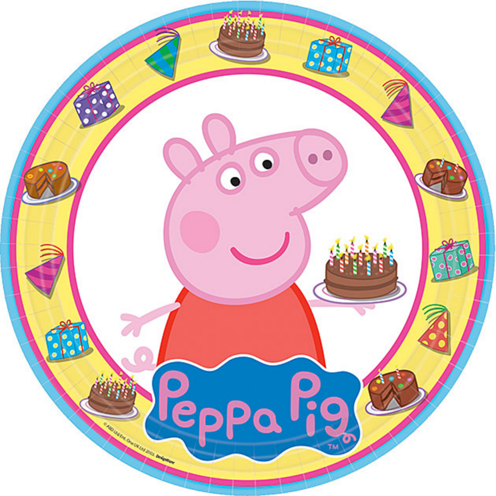 Peppa Pig Lunch Plates 8ct Image #1