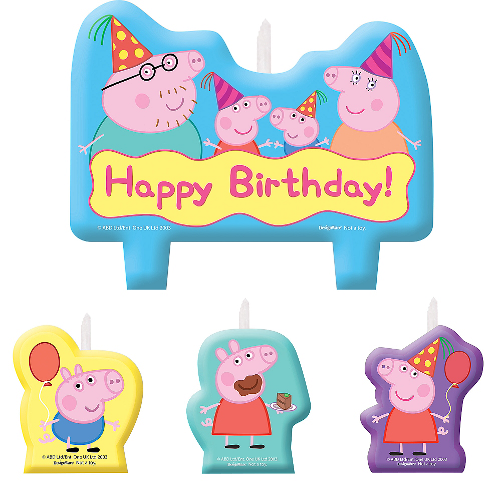 Peppa Pig Birthday Candles 4ct Image 1
