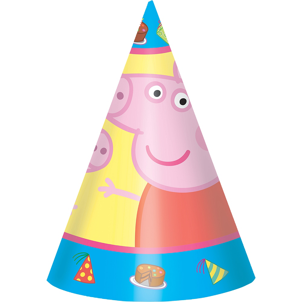 Nav Item for Peppa Pig Party Hats 8ct Image #1