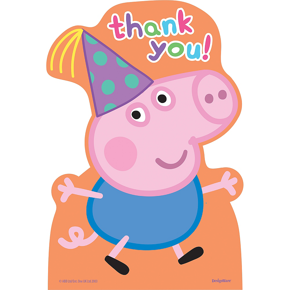 Peppa Pig Thank You Notes 8ct Image #1