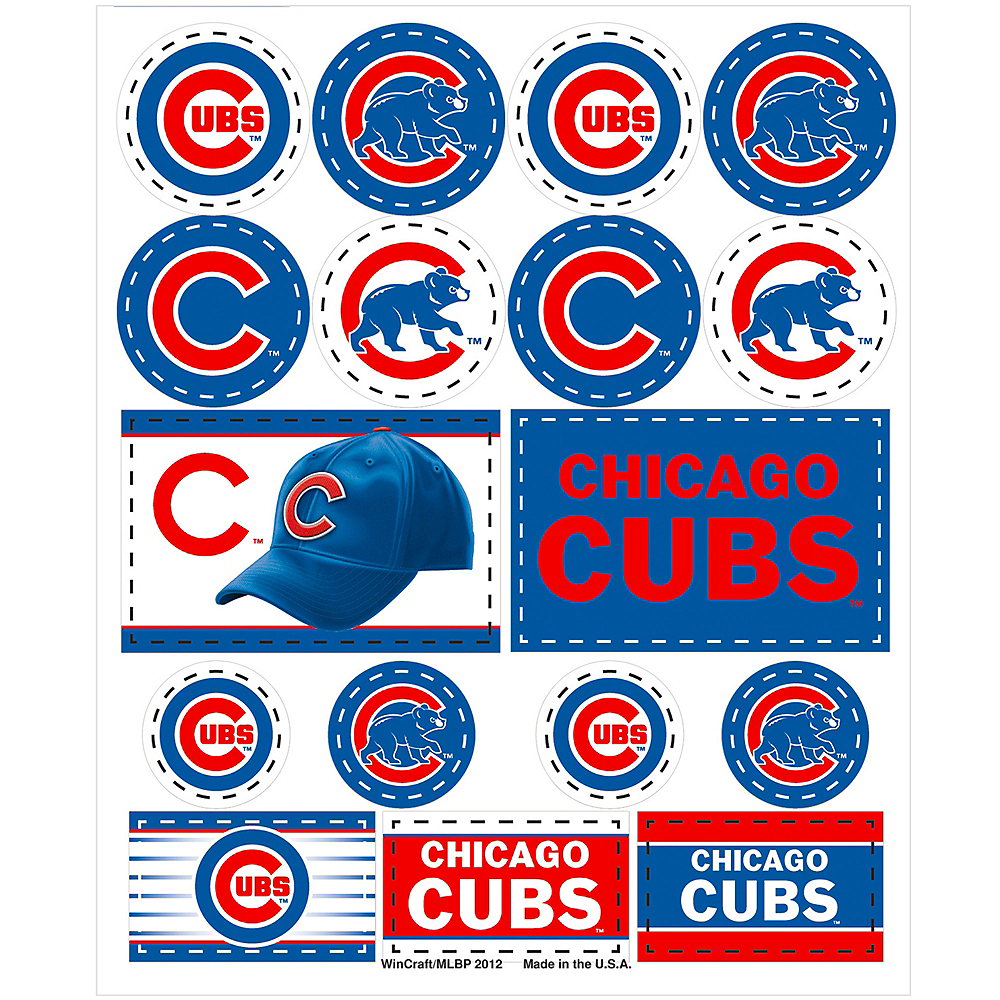 Chicago Cubs Stickers 1 Sheet Image #1