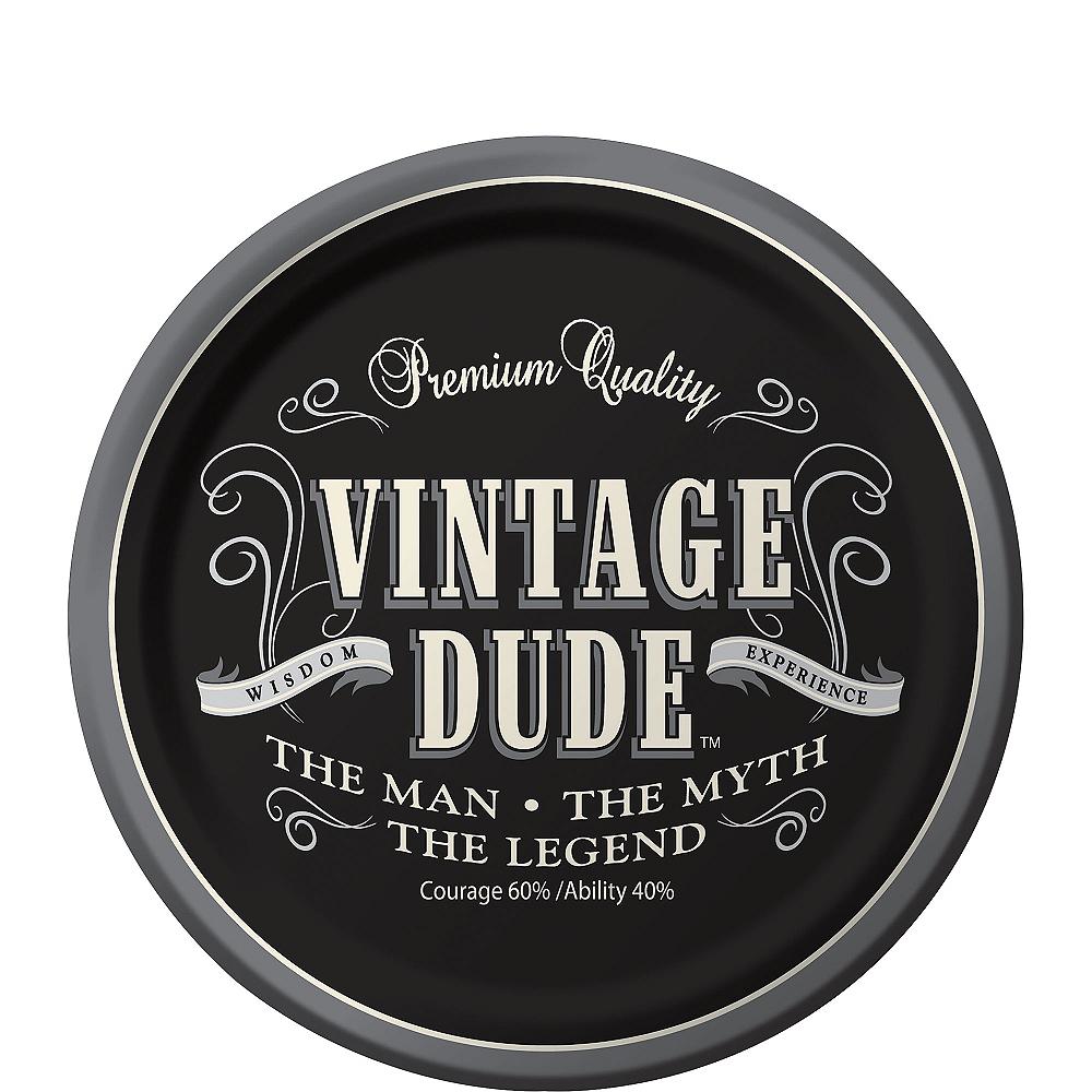 Vintage Dude Dessert Plates 8ct Image #1