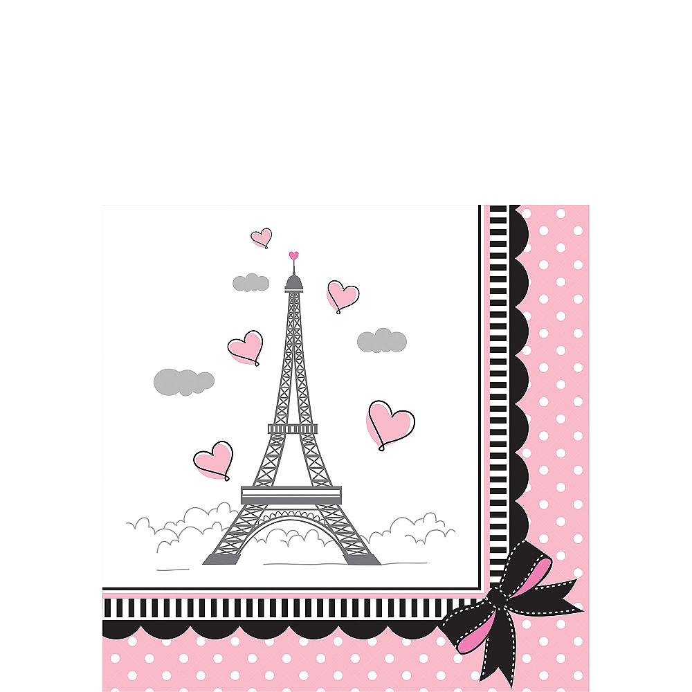 Pink Paris Beverage Napkins 16ct Image #1