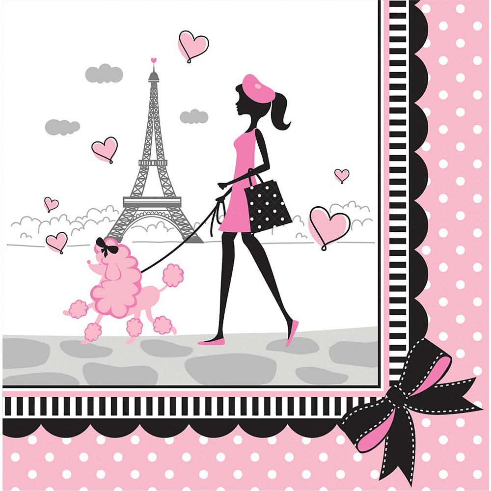 Pink Paris Lunch Napkins 16ct Image #1