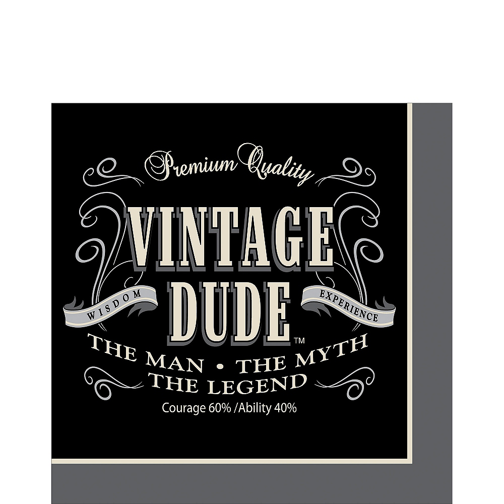 Vintage Dude Lunch Napkins 16ct Image #1