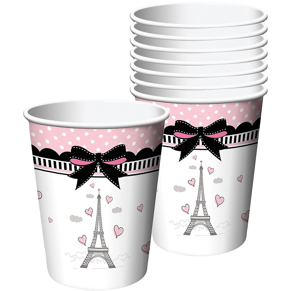 Pink Paris Cups 8ct Image #1