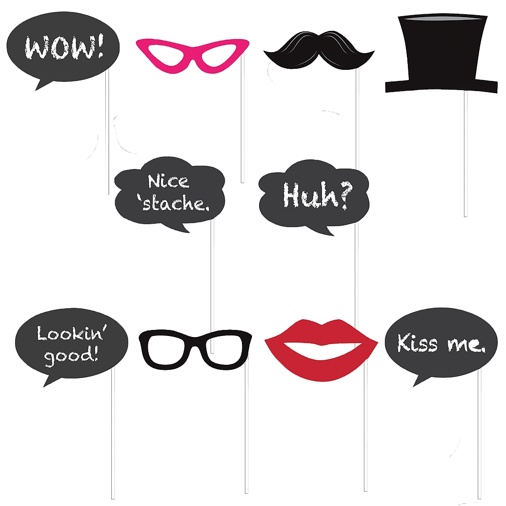 Chalkboard Photo Booth Props 12ct Party City