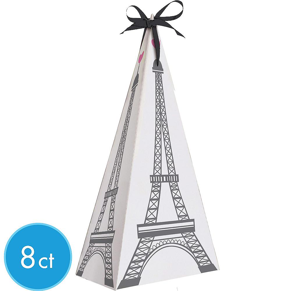 Pink Paris Eiffel Tower Favor Boxes 8ct Image #1