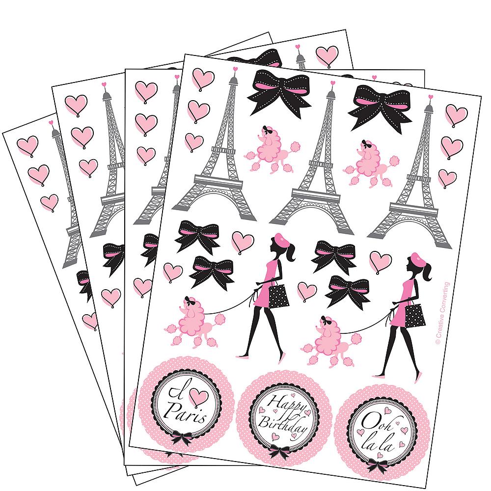 Pink Paris Stickers 4 Sheets Image #1
