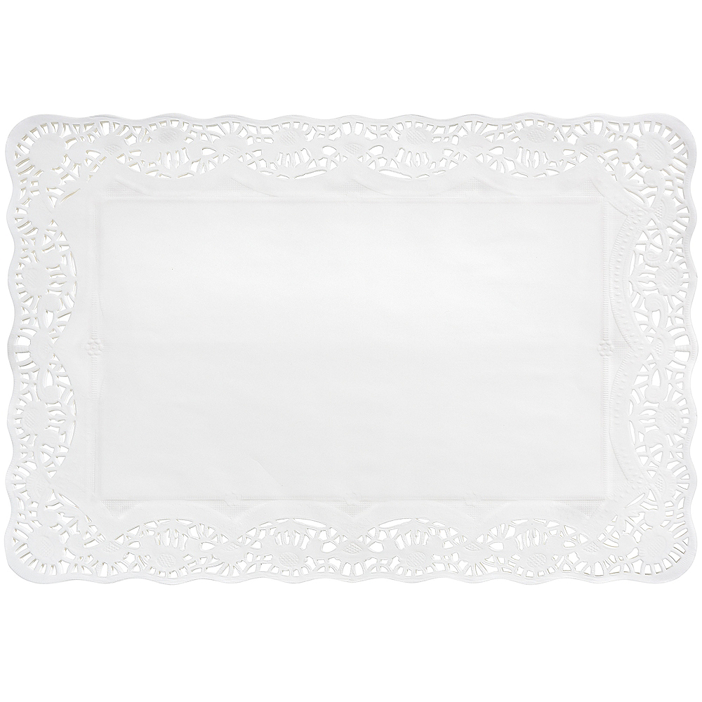 White Paper Placemat Doilies 9ct Image #1