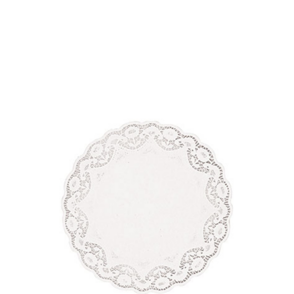 White Round Paper Doilies 40ct Image #1