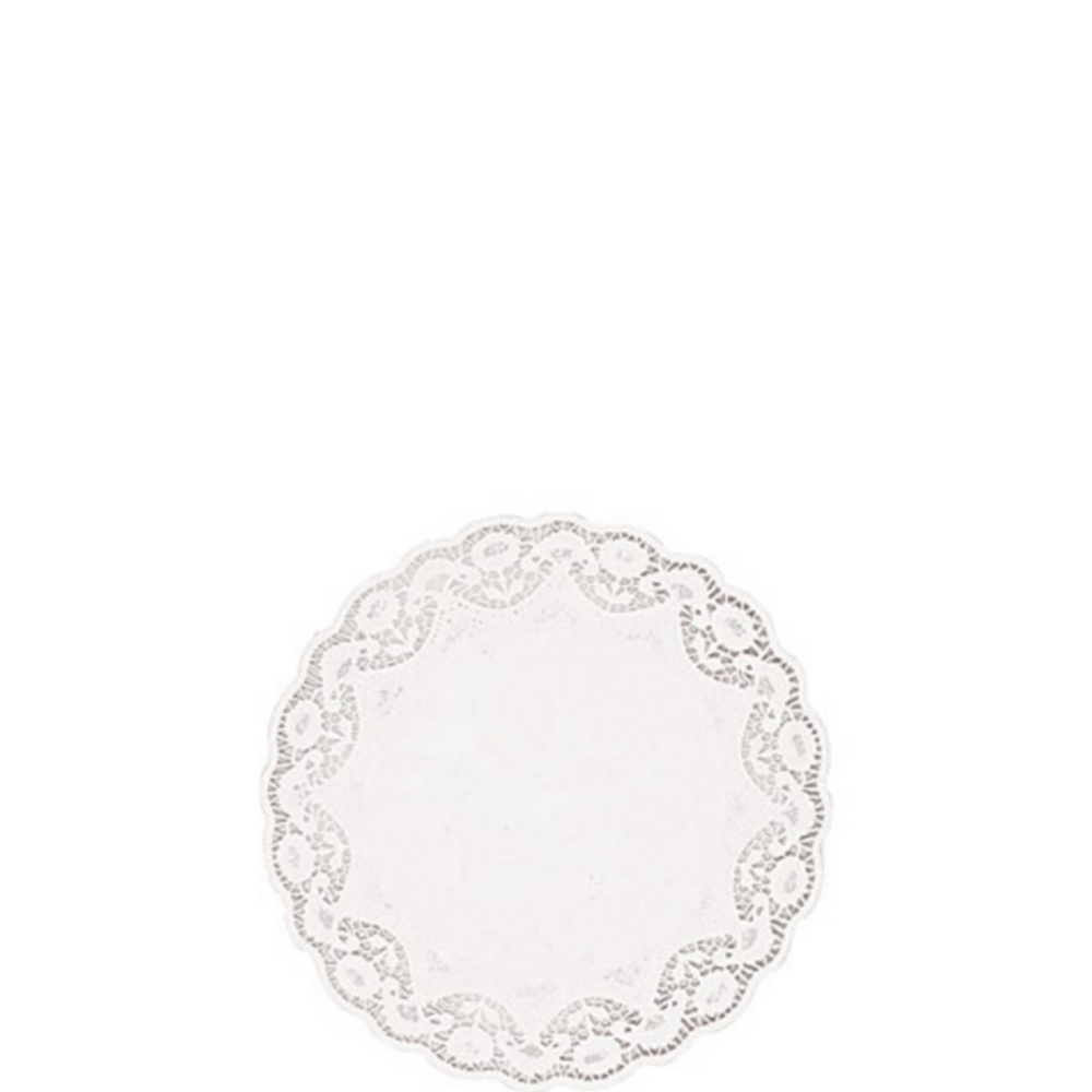 White Round Paper Doilies 48ct Image #1