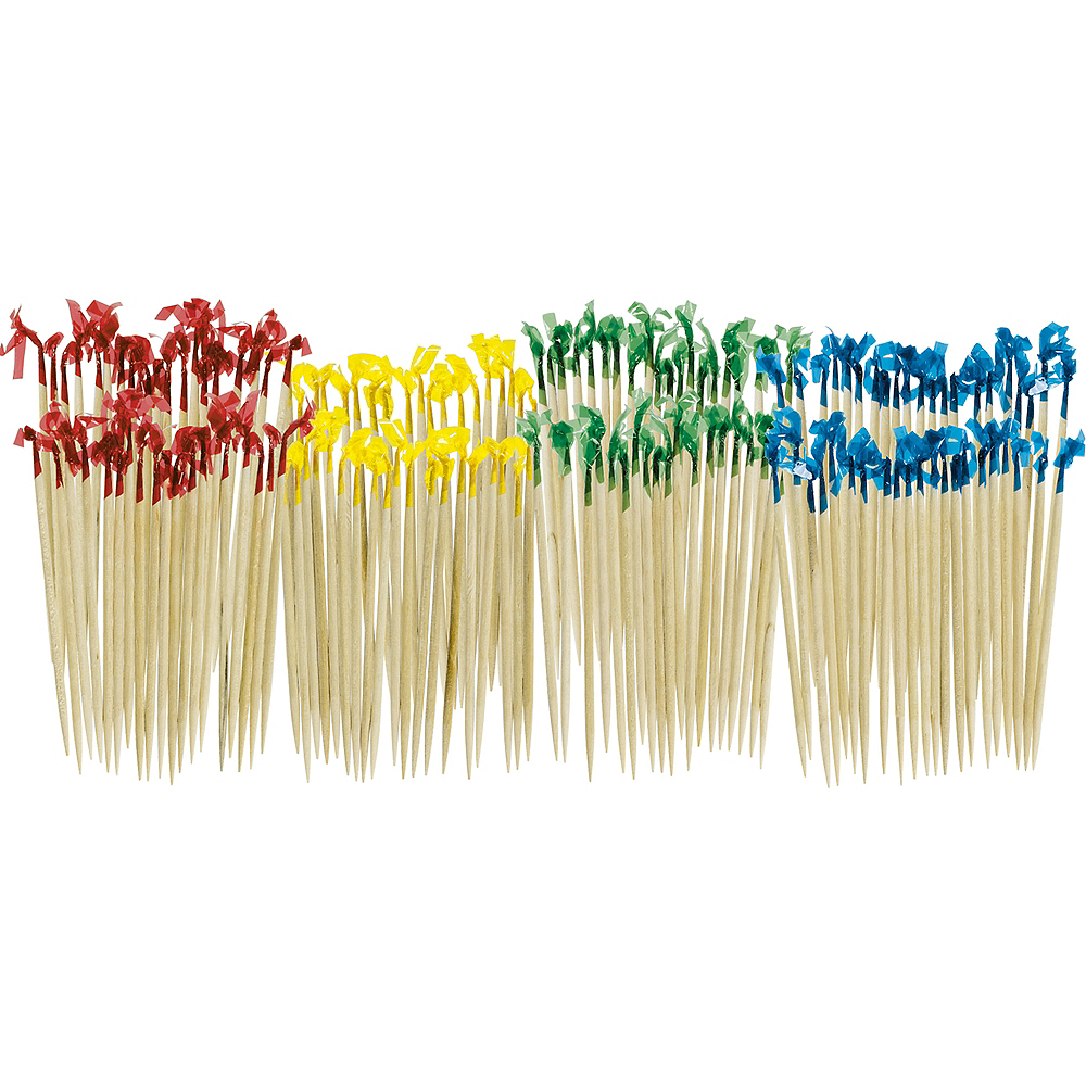 Multicolor Frill Party Picks 130ct Image #1