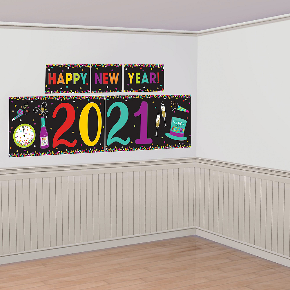 Colorful 2019 New Year S Scene Setter 118in X 48 1 2in Party City