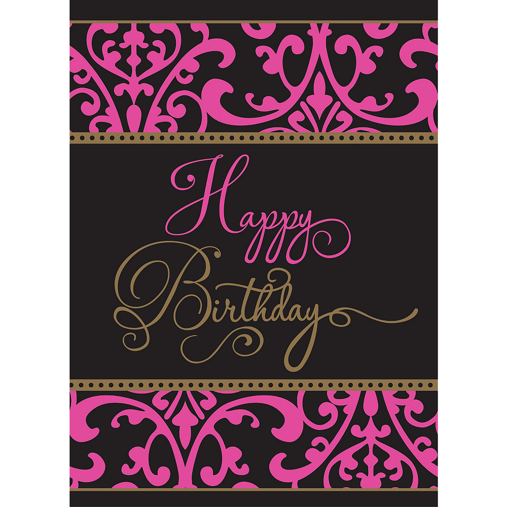 Damask Birthday Table Cover - Fabulous Celebration Image #2