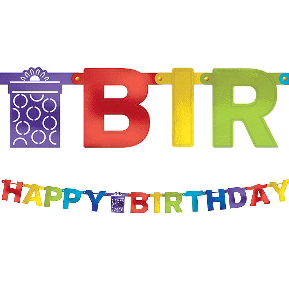 Rainbow Birthday Banner Image #1