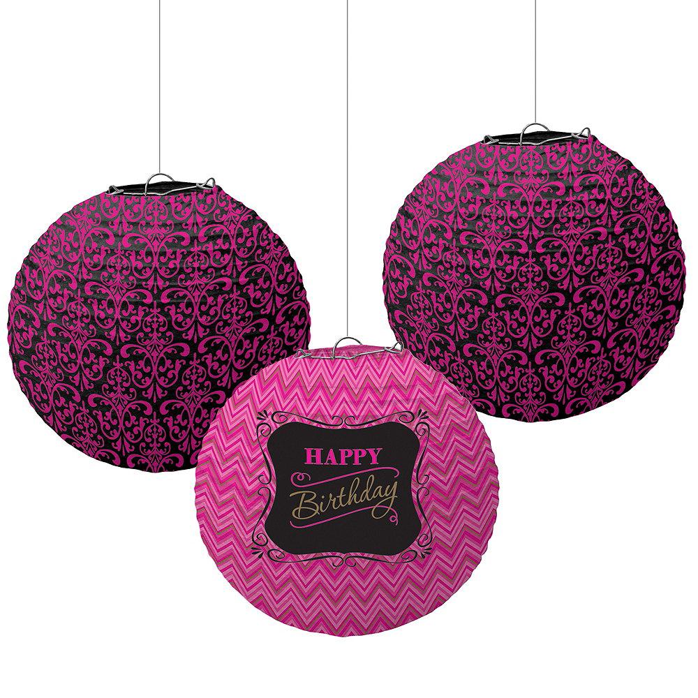 Fabulous Birthday Paper Lanterns 3ct Image 1