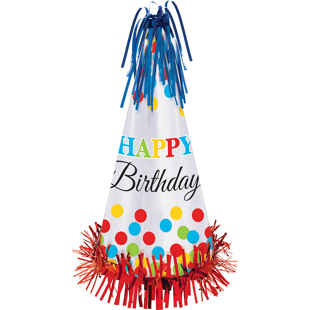 Rainbow Dot Birthday Party Hat Image #1