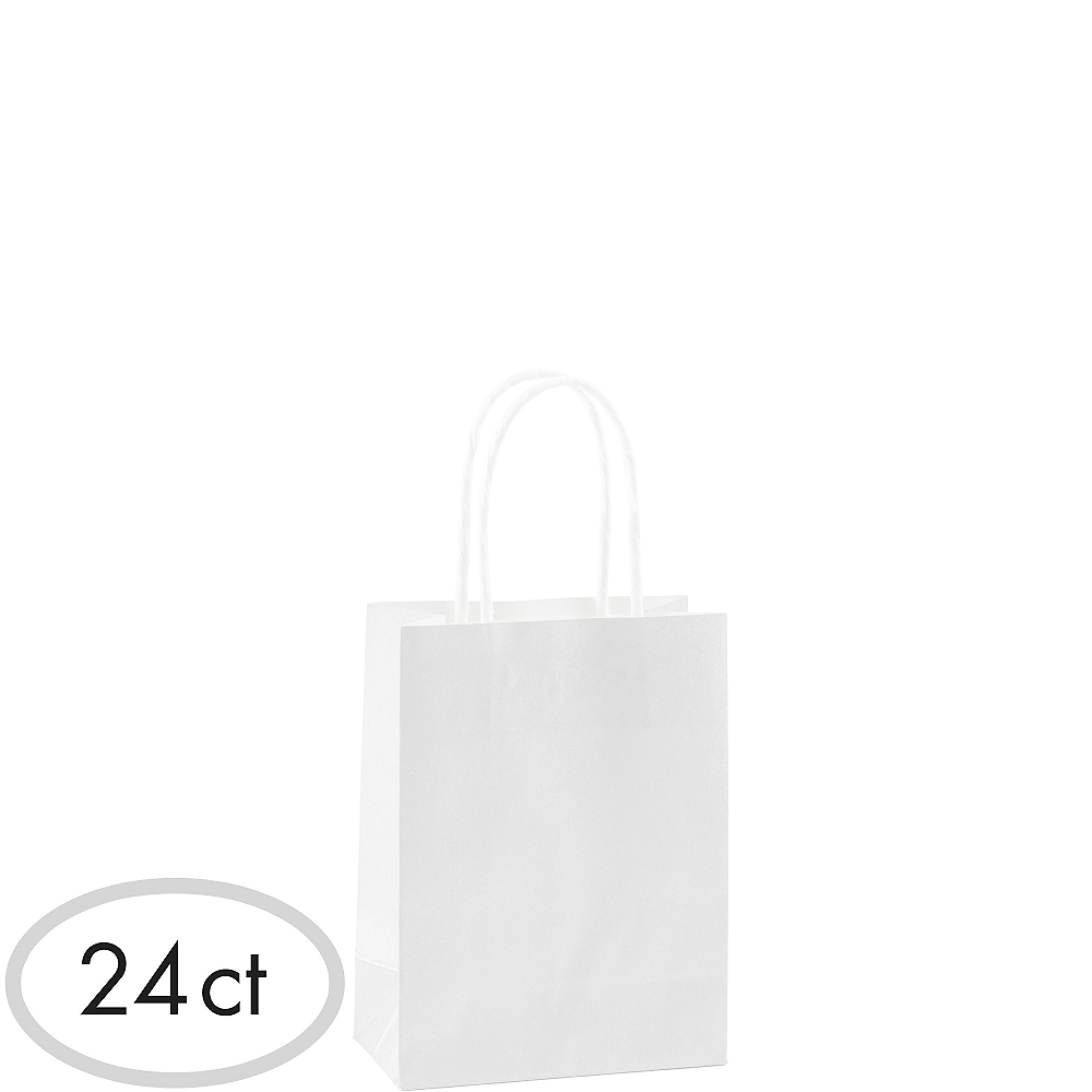Small White Kraft Bags 24ct Image #1