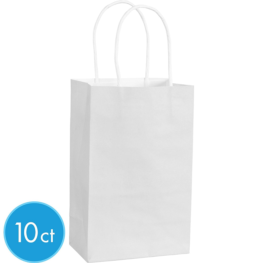 Small White Kraft Bags 24ct Image #2