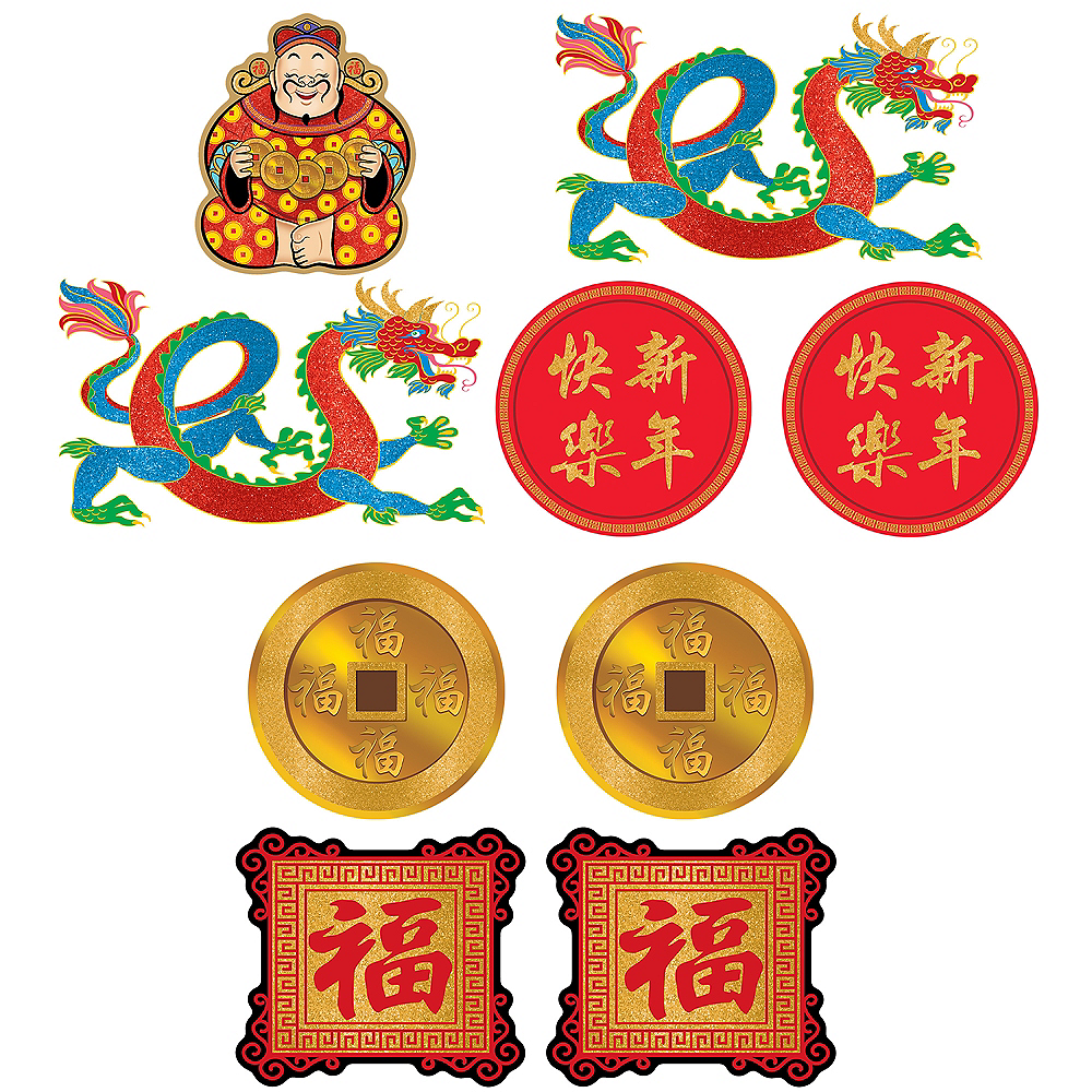 Nav Item for Chinese New Year Cutouts 9ct Image #1