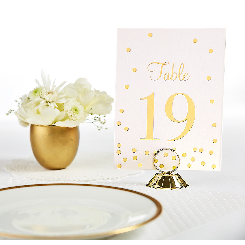 Gold Table Number Place Card Holder Image #1