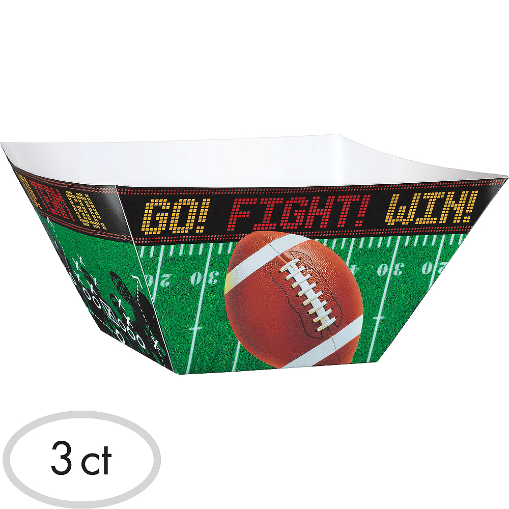 Football Field Snack Bowls 3ct Image #1
