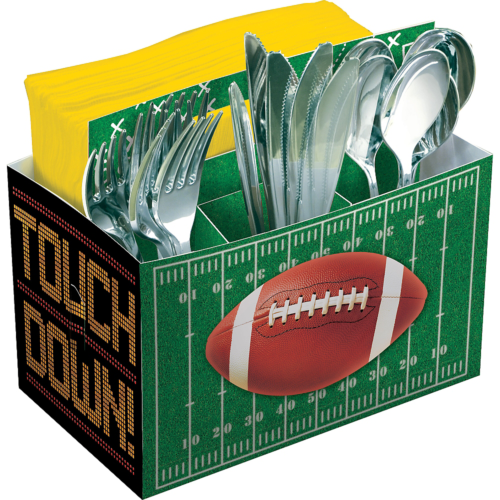 Football Field Paper Utensil Caddy Image #1