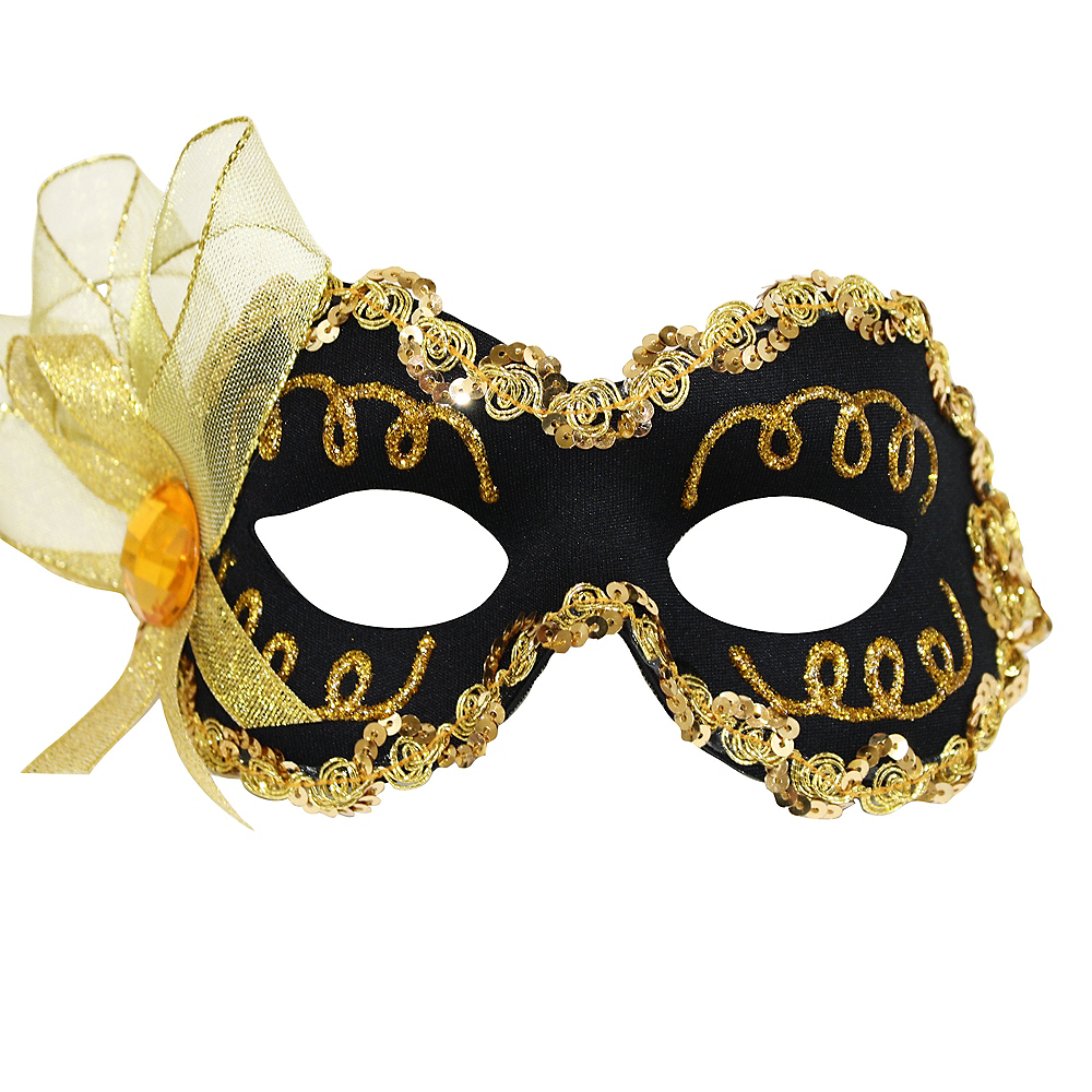 Black & Gold Masquerade Mask Image #1