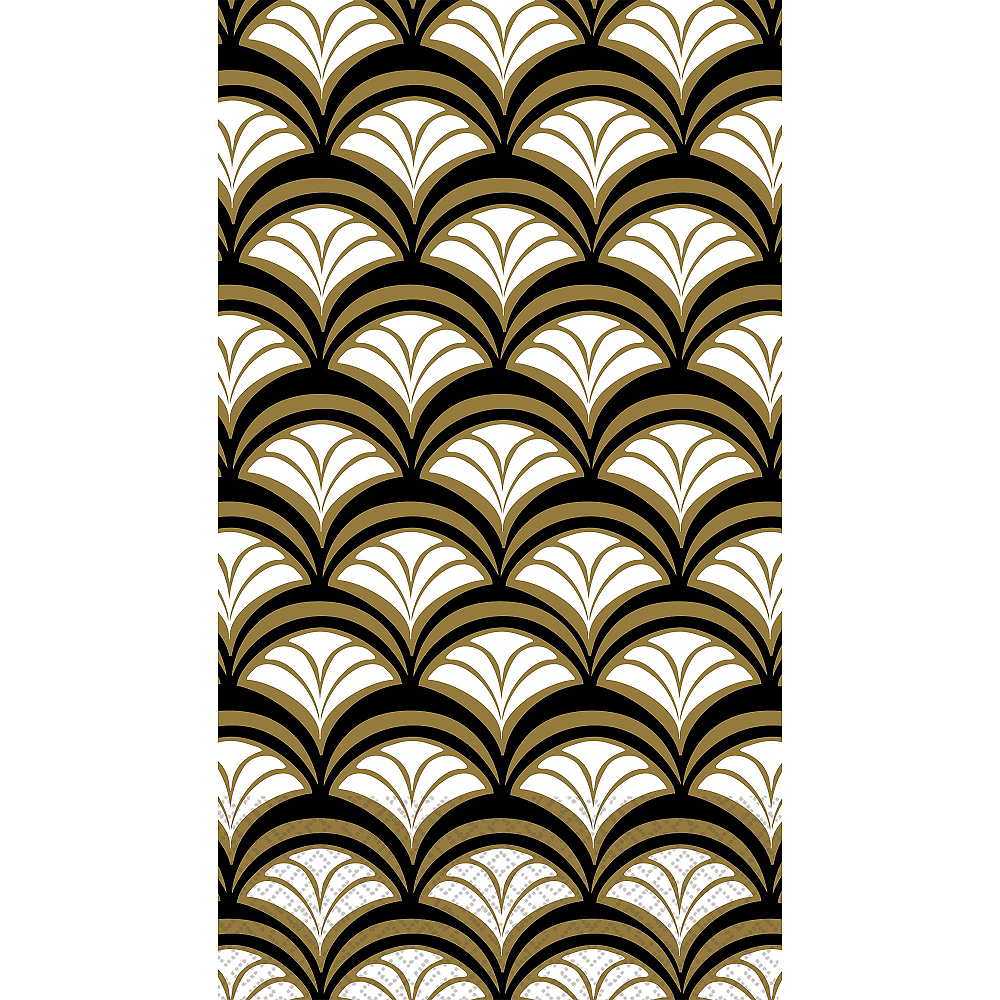 Gold Scalloped Guest Towels 16ct Image #1
