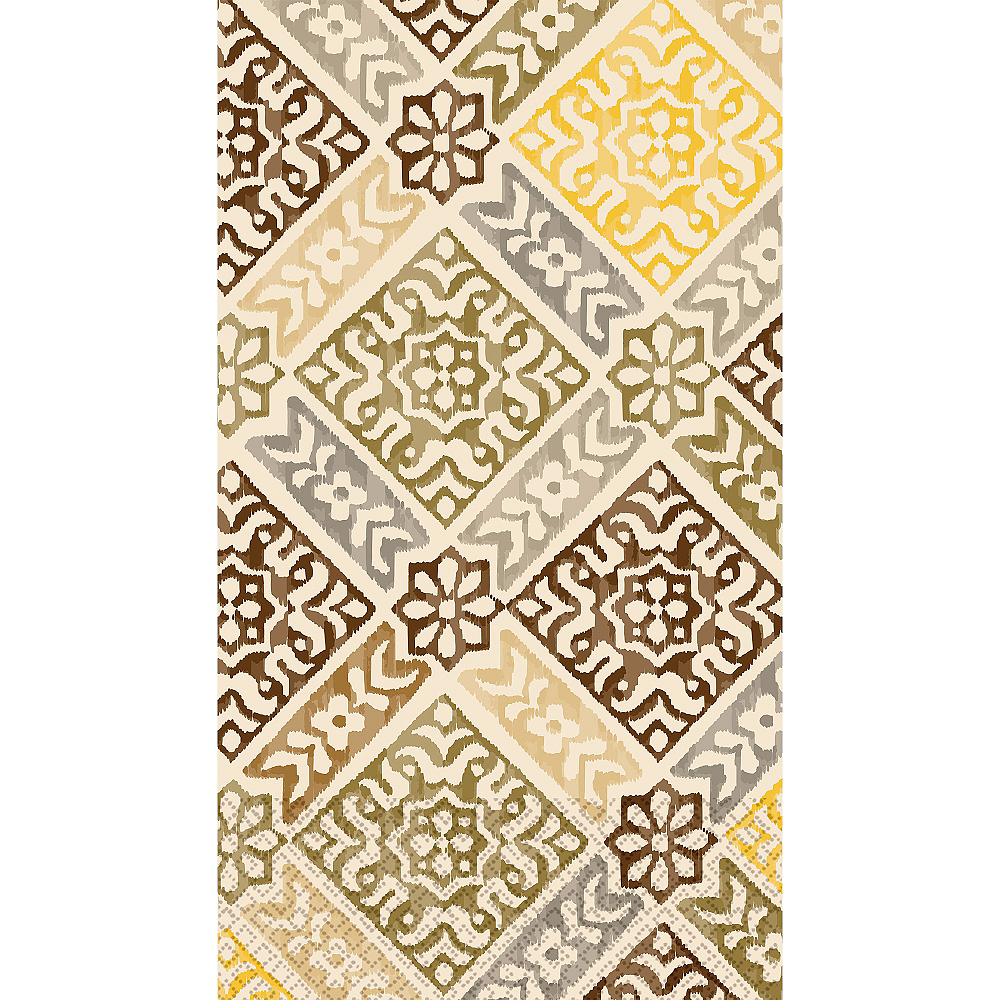 Gold Medallion Print Guest Towels 16ct Image #1