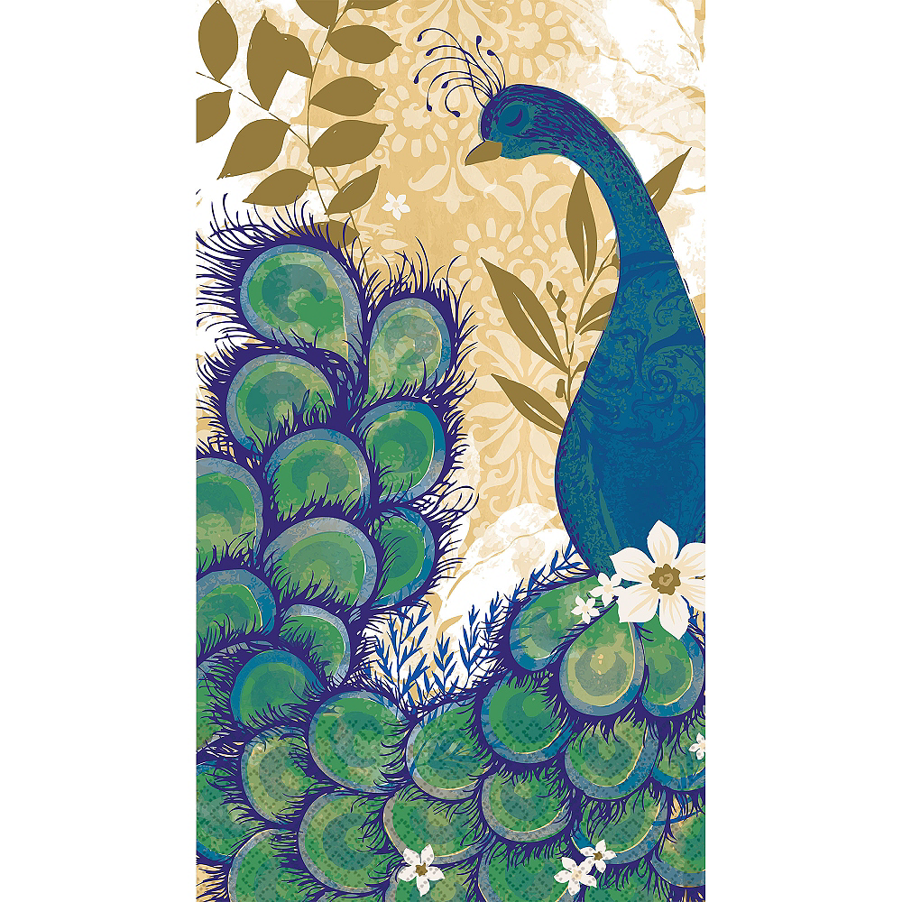 Peacock Guest Towels 16ct Image #1