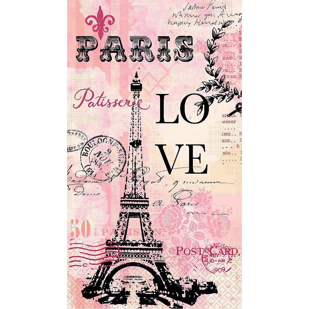 Paris Love Guest Towels 16ct Image #1