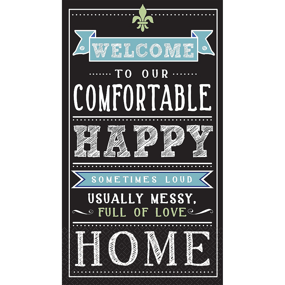 Chalkboard Happy Home Guest Towels 16ct Image #1