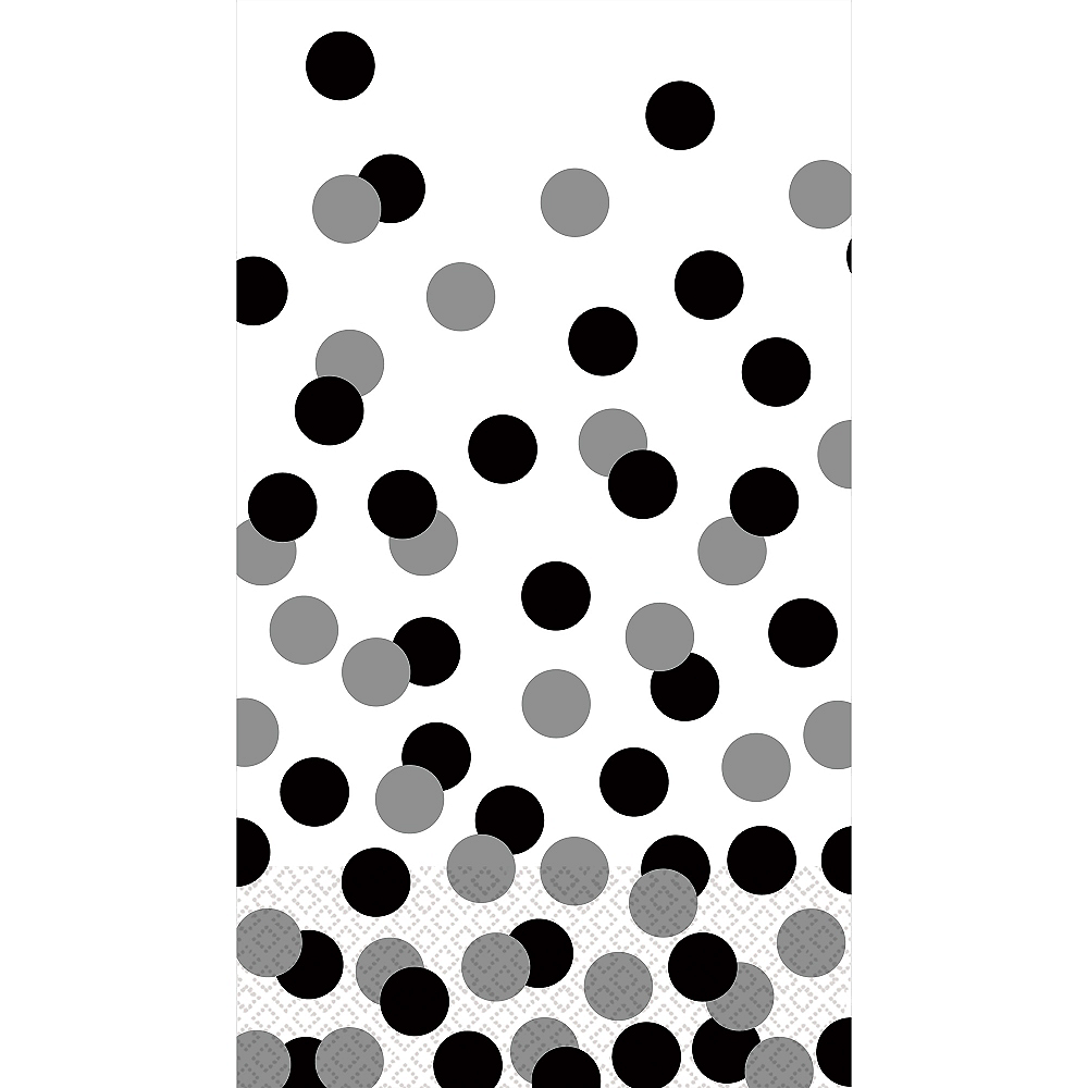 Black & White Dot Guest Towels 16ct Image #1