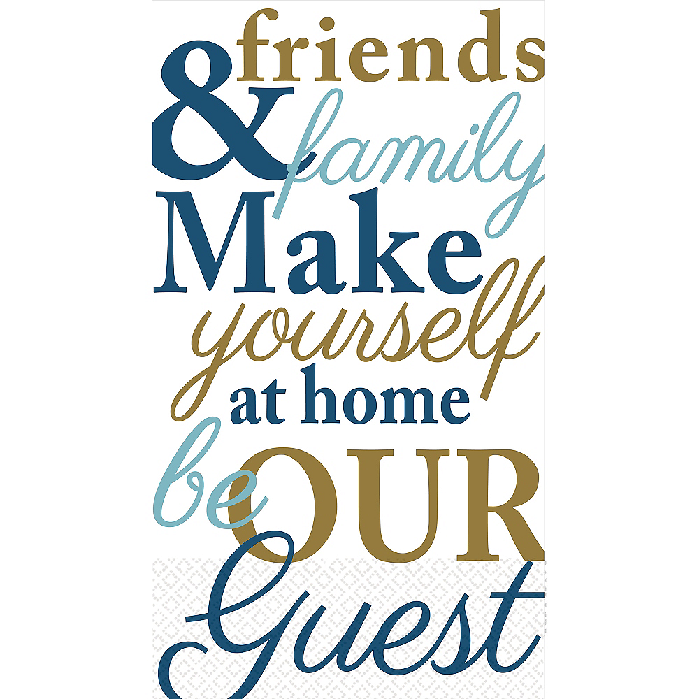 Friends & Family Typography Guest Towels 16ct Image #1
