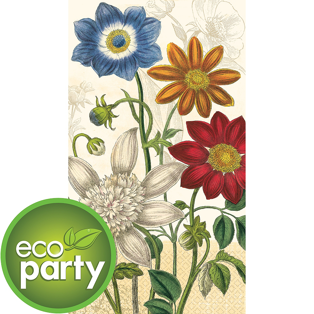 Eco-Friendly Vintage Garden Guest Towels 16ct Image #1