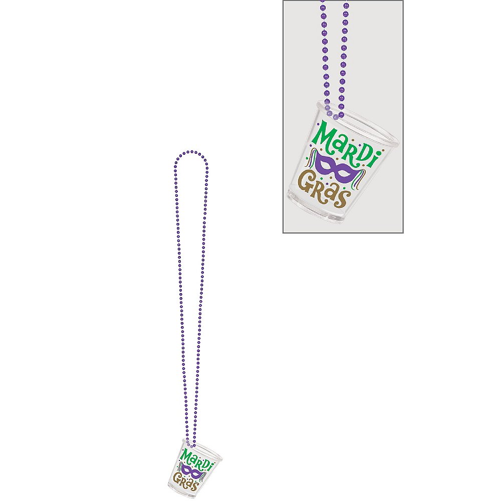 Mardi Gras Shot Glass Necklace Image #1