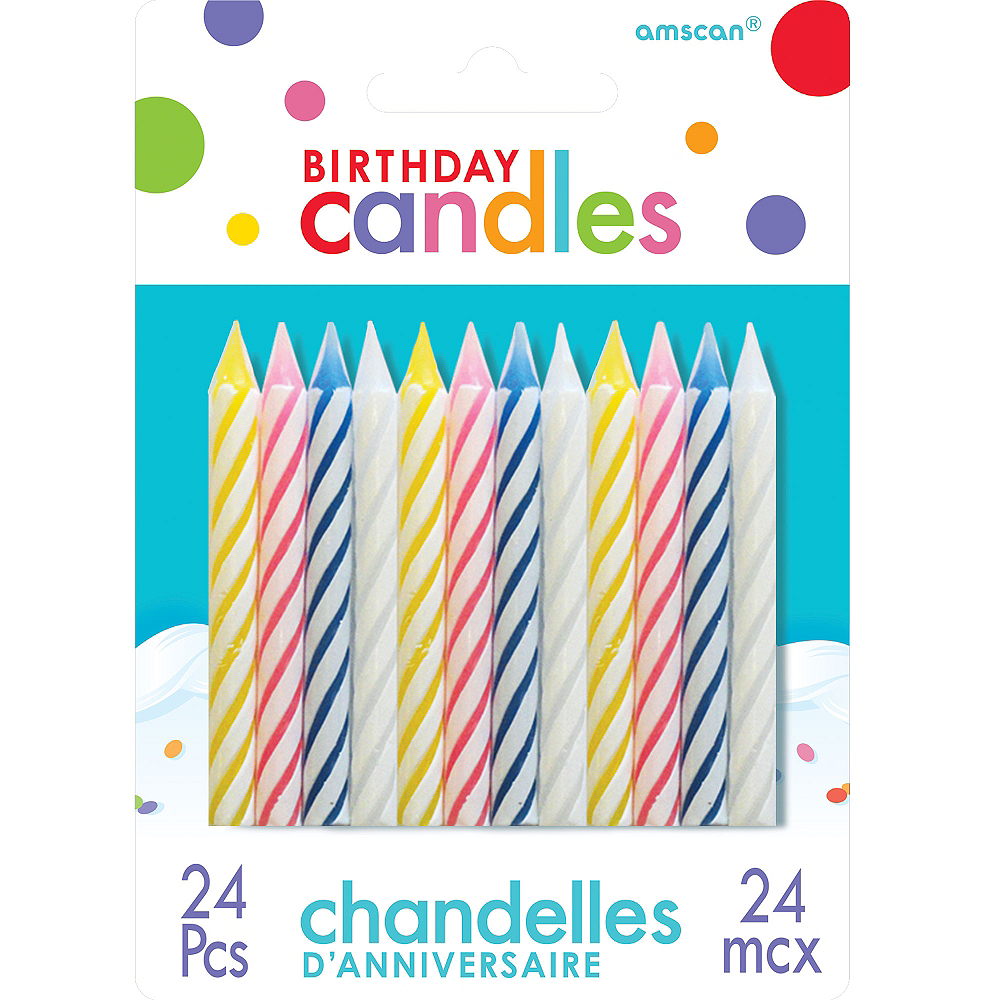 Spiral Birthday Candles 24ct Image 1