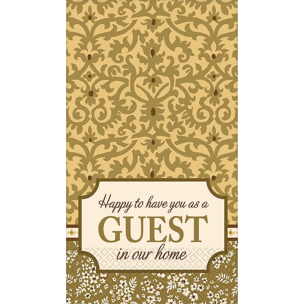 Welcome Guest Damask Guest Towels 16ct Image #1
