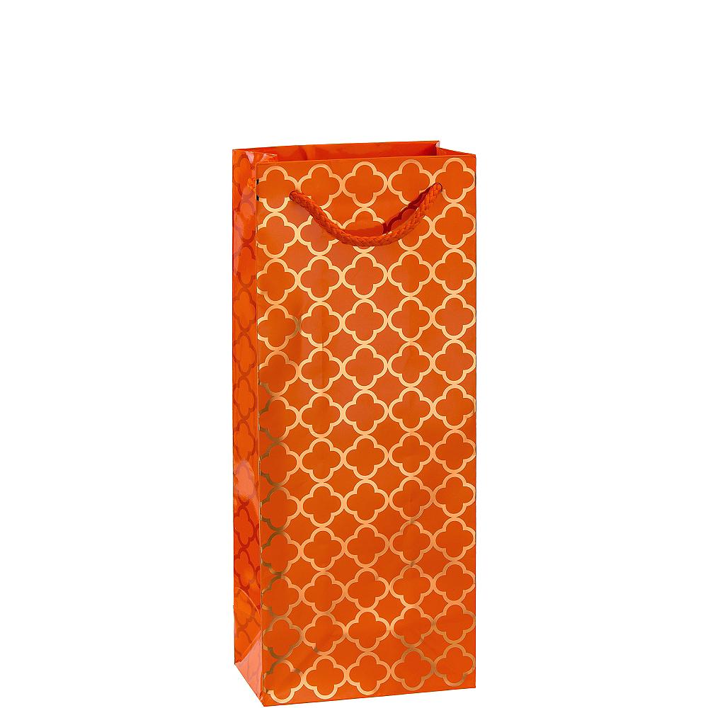 Metallic Orange Moroccan Bottle Bag Image #1