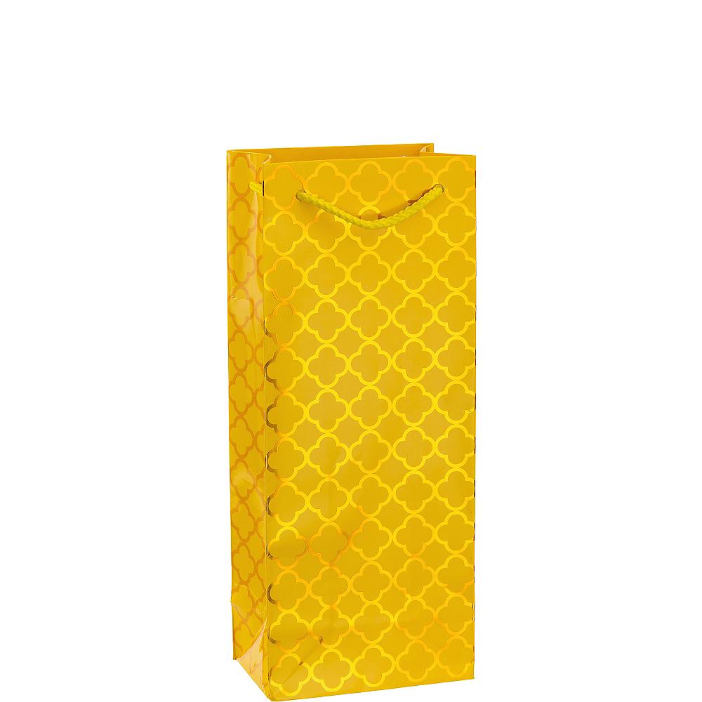 Metallic Yellow Moroccan Bottle Bag Image #1