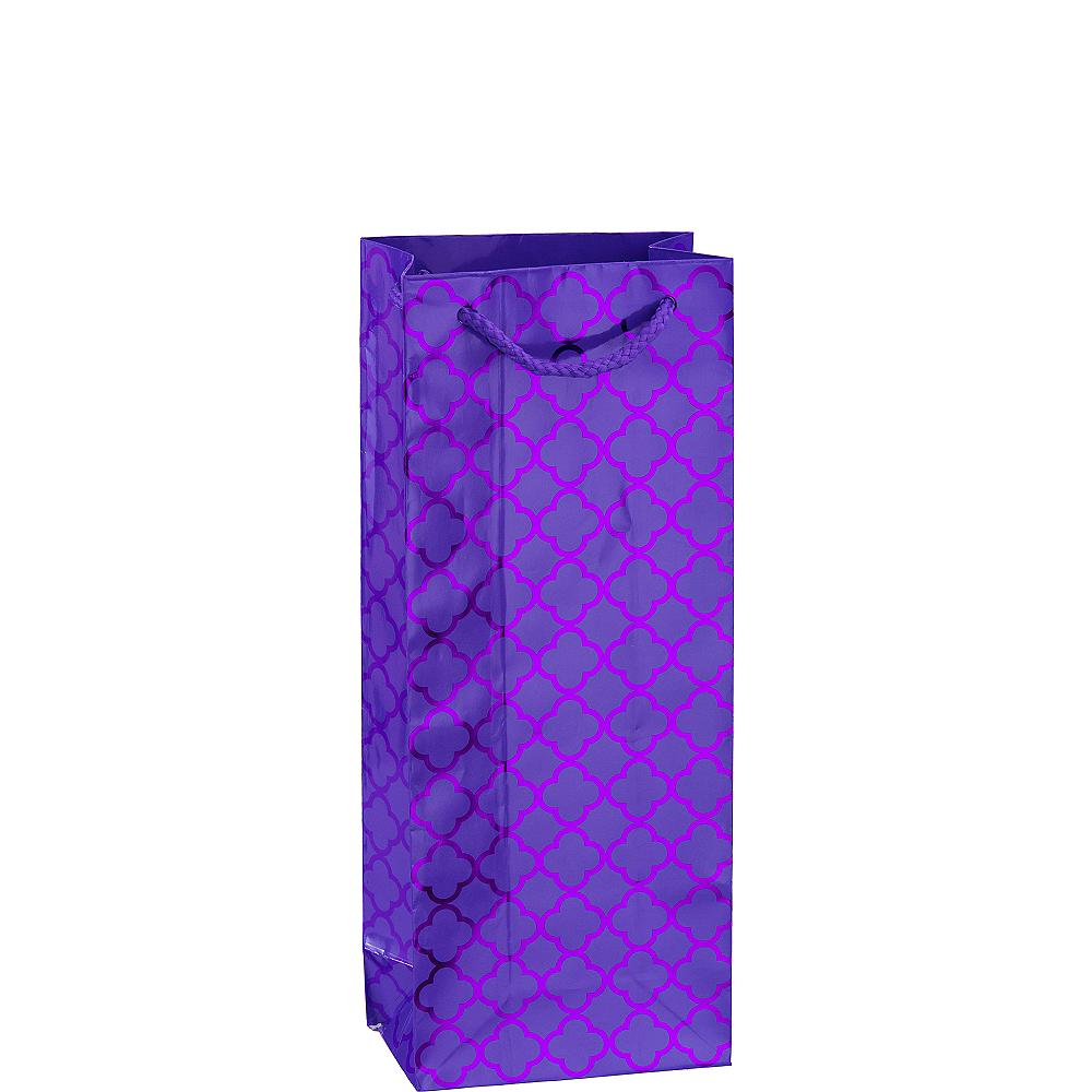 Metallic Purple Moroccan Bottle Bag Image #1