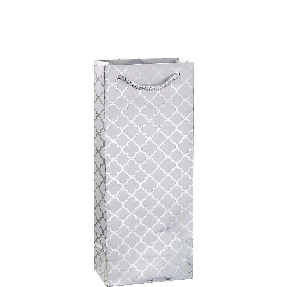 Metallic Silver Moroccan Bottle Bag Image #1