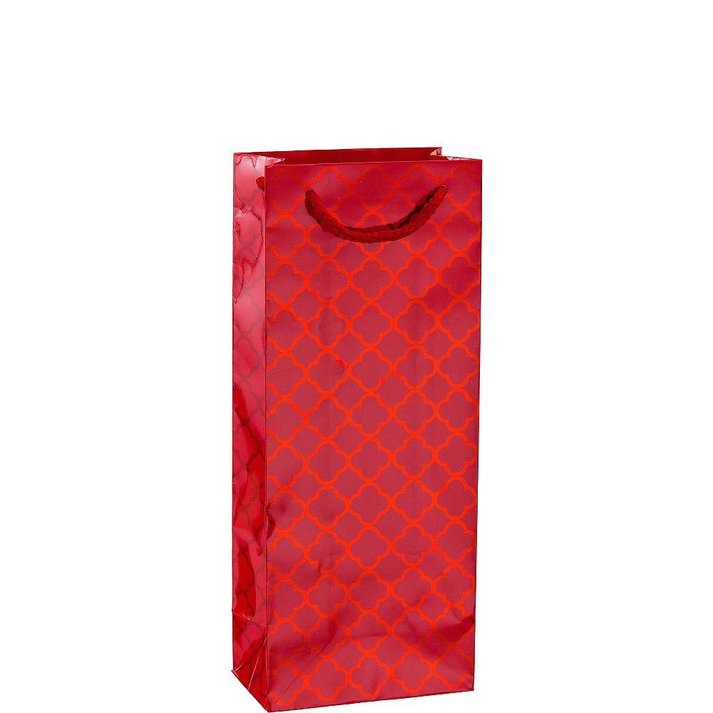Metallic Red Moroccan Bottle Bag Image #1